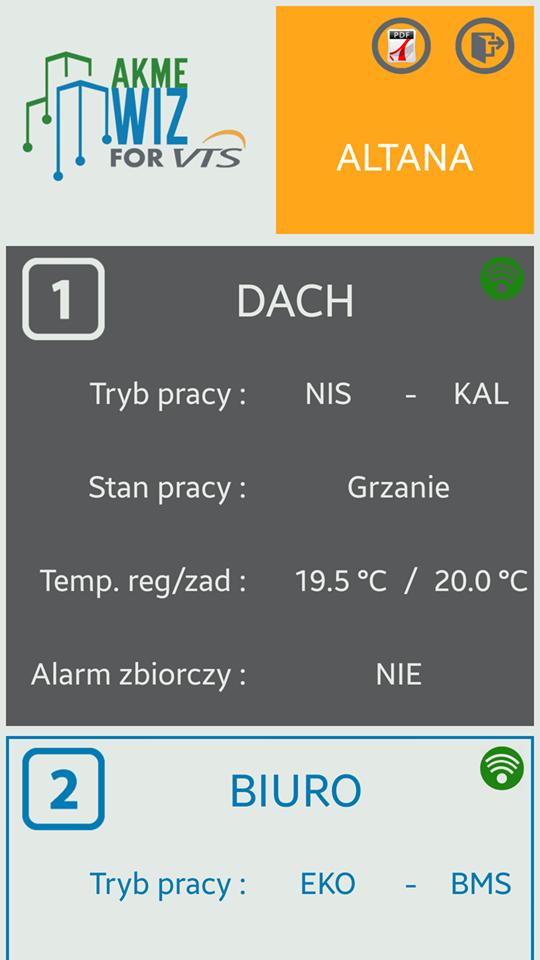 AkmeWIZ - sterowanie Android